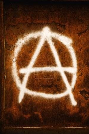 Anarchia symbol graffiti