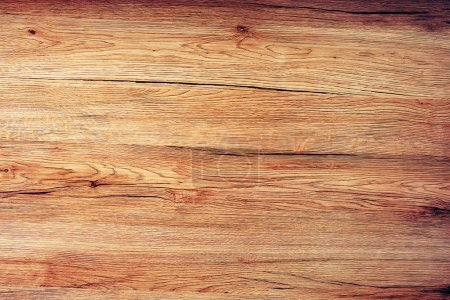 Photo for Rustic wooden board texture, table top view as background - Royalty Free Image