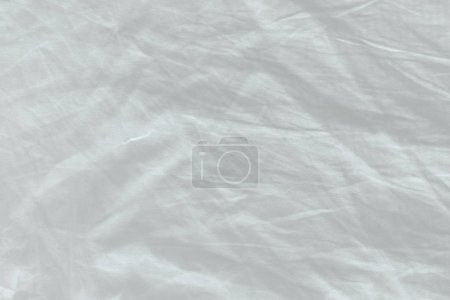 Photo for Unmade bed sheet texture, top view as abstract texture or displacement map - Royalty Free Image