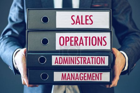 Four core business functions - sales, operations, administration