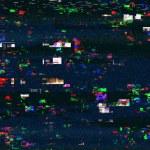 Digital tv damage, television broadcast glitch, ab...