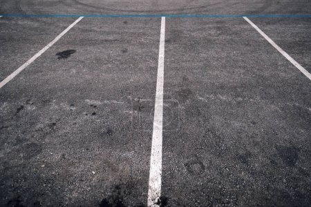 Empty parking lot space for cars