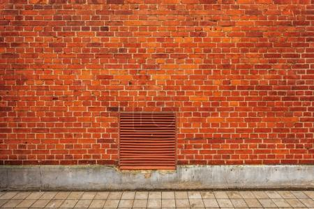 Photo for Brick wall building facade, urban street backdrop with no people - Royalty Free Image