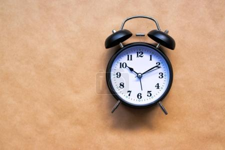 Photo for Vintage alarm clock, classic style clock face for time and wake up concept - Royalty Free Image