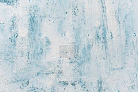 Foto de Pintura blanca textura grunge, pinceladas ásperas en superficie metálica - Imagen libre de derechos