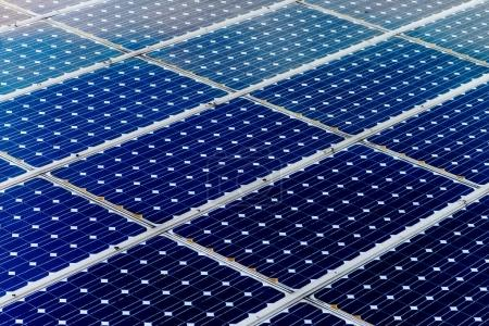 Photo for Solar panel surface, power industry and technology background, sun energy and renewable green power resources - Royalty Free Image