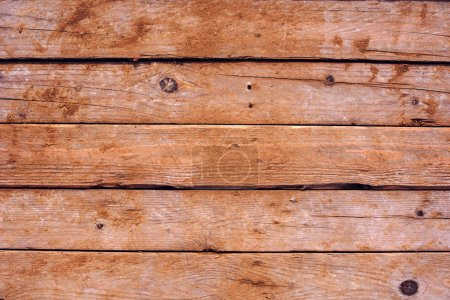 Photo for Abstract obsolete wooden brown horizontal plank boards texture as background for design - Royalty Free Image