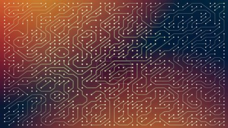 Photo for Circuit board for electronic components, abstract 2d illustration - Royalty Free Image