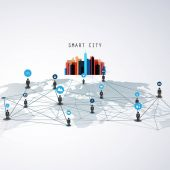 Smart Cities - Networks - Business Connections - Social Media Concept Design
