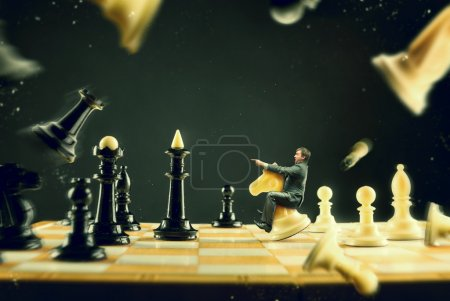 Man on chess board
