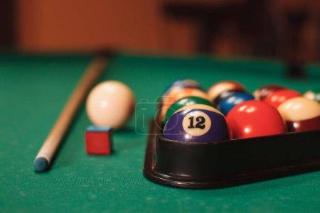 white ball and billiard pyramid