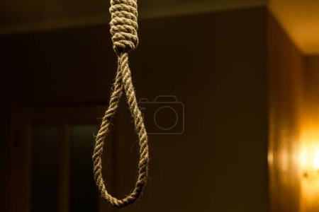 Suicide rope loop. Suicide noose concept...
