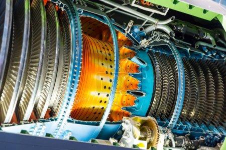 Jet engine inside