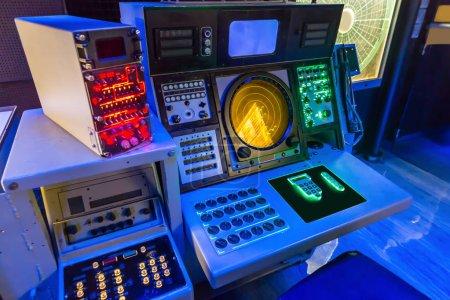 Photo pour Équipement de navigation porte-avions, USS musée maritime - image libre de droit