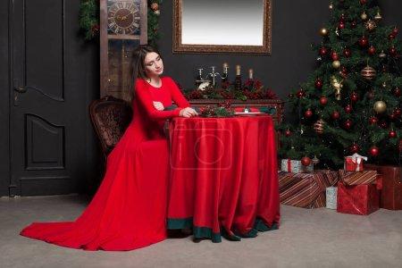 elegant woman in luxury restaurant