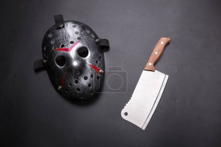 mask and meat cleaver