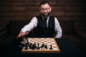 Male chess player