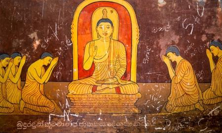 ancient buddha painting