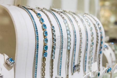 bracelets decorated with gemstones