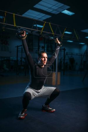 male athlete training