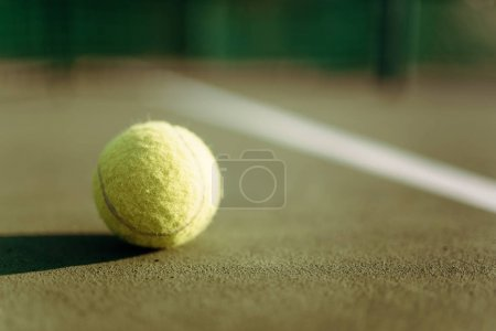 Tennis ball on ground coverage