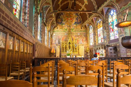Photo for Interior of old church, Europe, nobody. Ancient european architecture and style, famous places for travel and tourism, historical heritage - Royalty Free Image