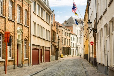 Photo for Cozy street in ancient provincial European town, nobody. Traditional architecture. Summer tourism and travels, famous europe landmark, popular places for travelling - Royalty Free Image