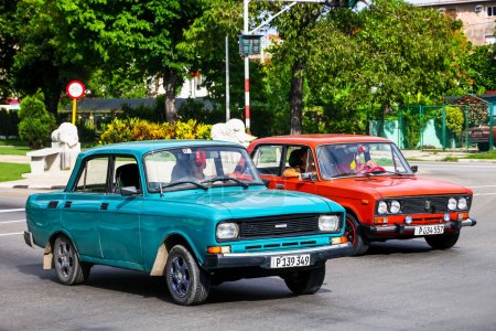 Cars Moskvitch 2140SL and Lada 2106