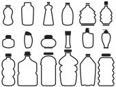 bottle container outline icons
