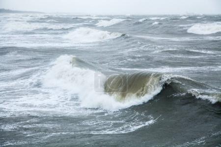Photo pour Tempête à la mer Baltique en automne - image libre de droit