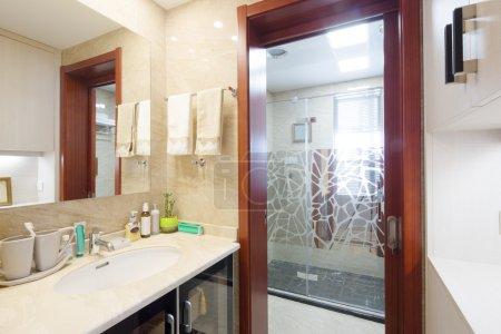 Decoration and design of modern bathroom...