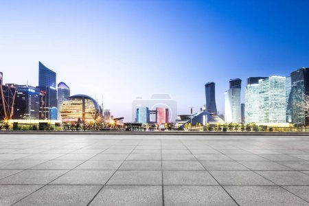 Cityscape and skyline of Hangzhou new city from br...