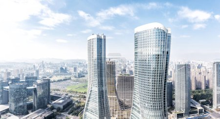 Modern office buildings in midtown of Hangzhou new...