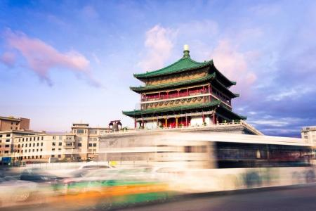 famous ancient Bell Tower in Xi'an