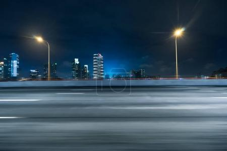 Photo for Night scene of cityscape of Tokyo from empty road - Royalty Free Image