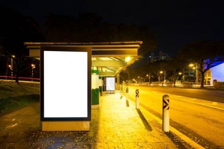 emtpy light box on street in city
