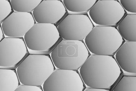 hexagon background 3d illustration