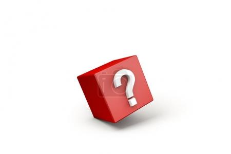 red cube with white question mark