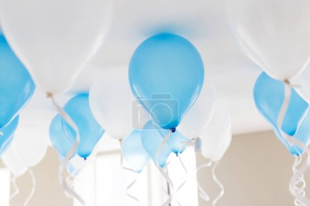 blue balloons in birthday party