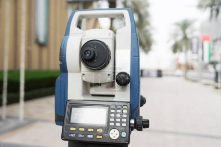 total station with busy road in midtown of Dubai
