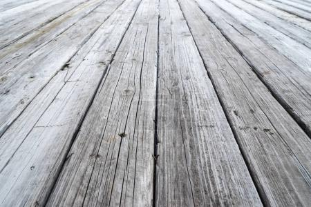 close-up view of old wooden plank