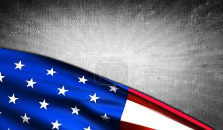 Photo pour Drapeau américain avec copyspace gris grunge - image libre de droit