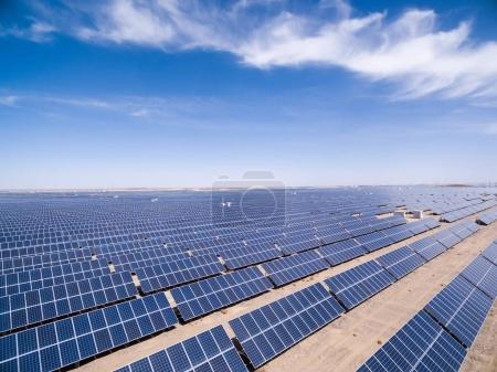 Foto de Vista aérea de la energía solar, golmud en la provincia de qinghai, China - Imagen libre de derechos