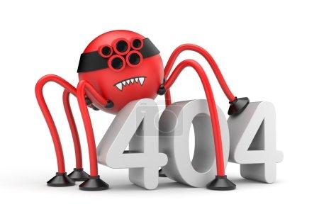Internet  404 error concept