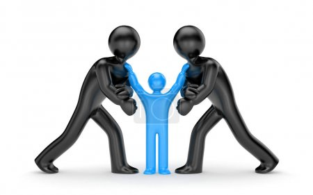 Intermediary and people conflict concept
