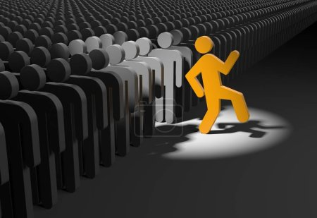Person wants to stand out from the crowd.