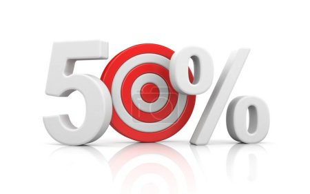 Target form the number 50 percent.