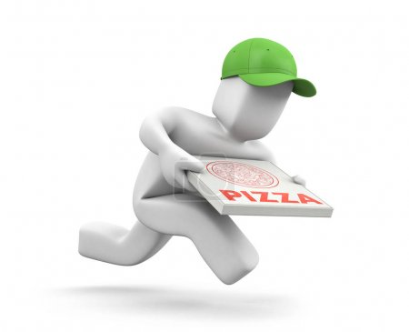 Pizza dealer with pizza box