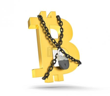 Sign of bitcoin tangled in chains