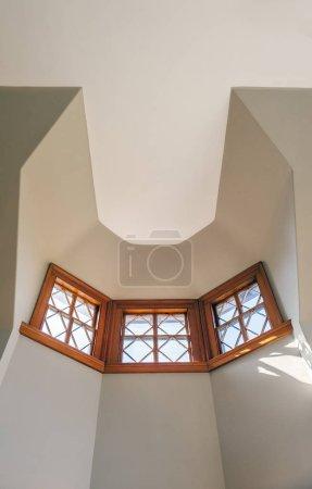 Architectural interior details with windows